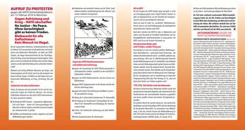 Flugblatt Aktionsbündnis gegen die SIKO